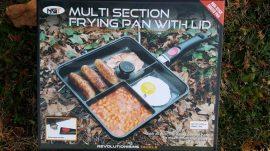 NGT 3 Way Frying Pan With Remoable Glass Lid & Handle (3 rekeszes serpenyő, levehető fogantyúval, üveg fedéllel)