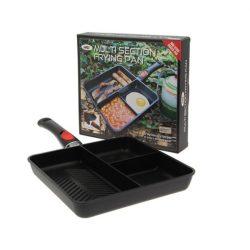 NGT 3 Way Frying Pan With Remoable Handle (3 rekeszes serpenyő, levehető fogantyúval)