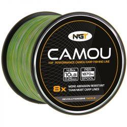 NGT Camo Line 10Lb (terep színű monofil zsinór-nagytekercses-0,25mm/4,5kg 1870m)