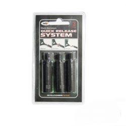 NGT Quick Release Systems-Black (aluminium gyorsrögzítő adapter, golyós-3db-fekete)