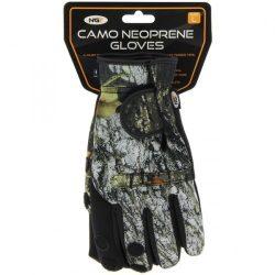 NGT Camo Neoprene Fishing Gloves L (neoprén horgász kesztyű, terep-L)