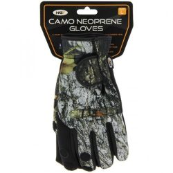 NGT Camo Neoprene Fishing Gloves XL (neoprén horgász kesztyű, terep-XL)