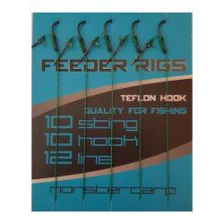 Monstercarp-Feeder Rigs 10 (előkötött feeder előke-10-es horoggal)