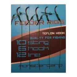 Monstercarp-Feeder Rigs 6 (előkötött feeder előke-6-os horoggal)