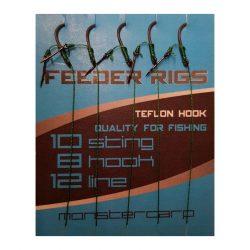 Monstercarp-Feeder Rigs 8 (előkötött feeder előke-8-as horoggal)