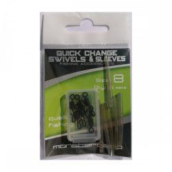 Monstercarp-Quick Change Swivels & Sleeves 6 set (gyorskapcsos forgó és kötésvédő 6db-os szett)